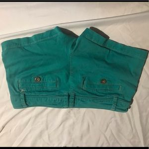 Green american eagle shorts